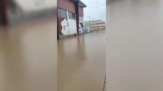 La borrasca 'Gloria' inunda las calles de Los Alcázares