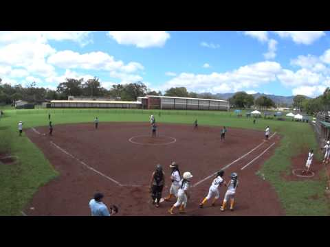 Leilehua High School JV Softball Sept. 5, 2015  #2