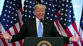 President Trump Hosts A Press Conference