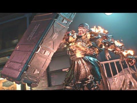 Resident Evil 3 Remake Nemesis Rocket Launcher Boss Fight Nemesis Encounter 4 Re3 Remake 2020 Youtube