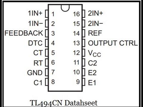 Circuito integrado TL494 identificación curso de electrónica gratis  descargar