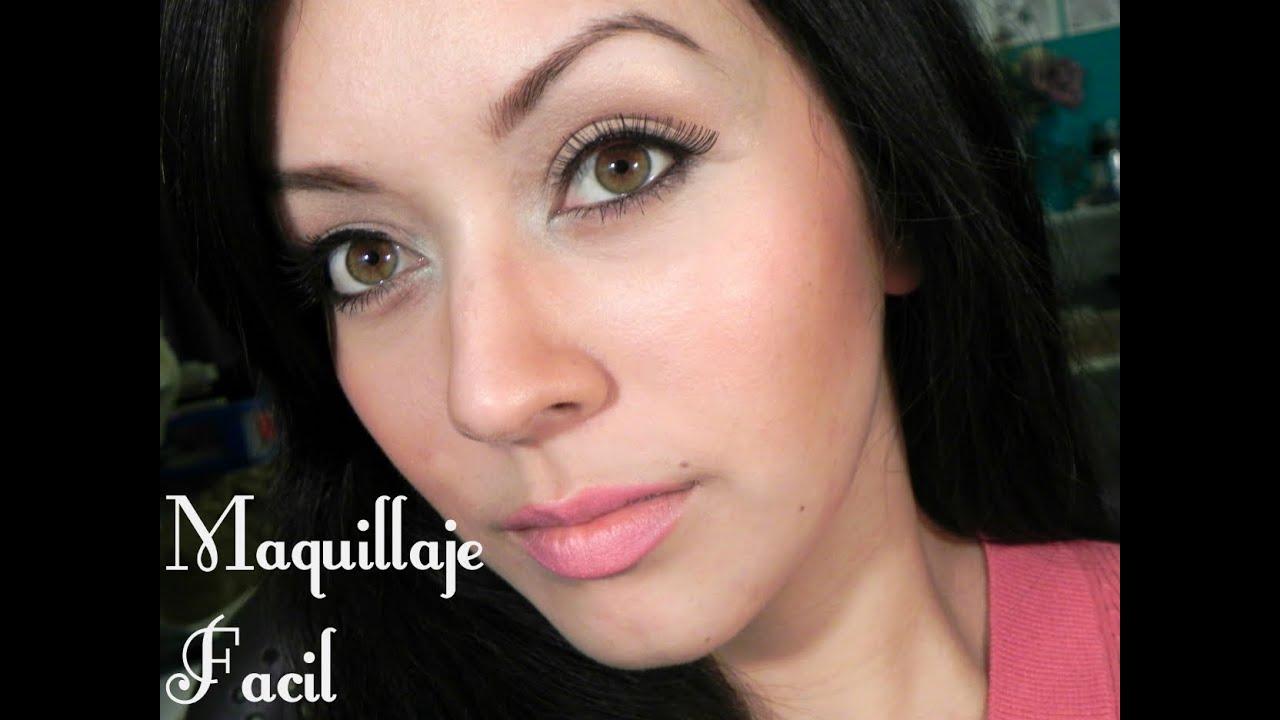 maquillaje facil y natural para el colegio trabajo o de dia chana beauty youtube