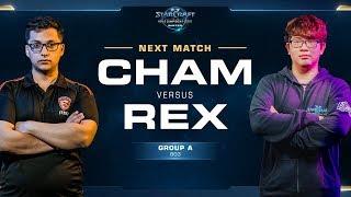 Cham vs Rex ZvZ - Ro16 Group A - WCS Winter Americas