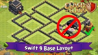 Clash Of Clans: TH9 | BEST Farming Base Layout (with Air Sweeper) - Swift 9