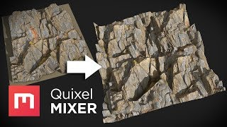 Scan Cleanup and Tiling with Quixel Mixer