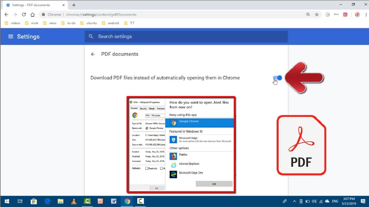 How to Disable PDF Viewer of Google Chrome in Windows