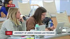 University of Akron changes law program