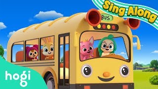 The Wheels on the Bus | Sing Along with Pinkfong & Hogi | Nursery Rhymes | Hogi Kids Songs