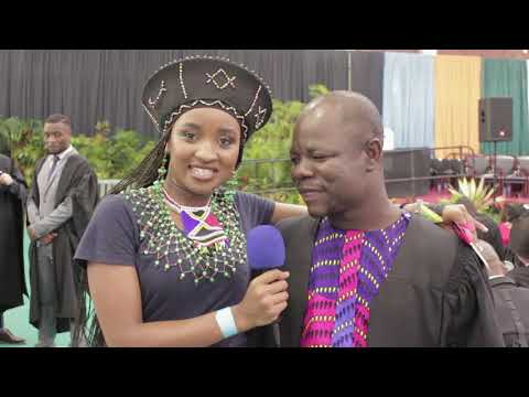 UKZN Graduate embracing African culture - UKZN grad 2018
