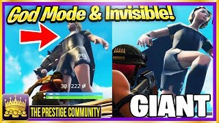 Comment devenir INVISIBLE, DIEU MODE - Un GIANT dans un hall public! (Fortnite Glitches Ps4 Xb1 PC)