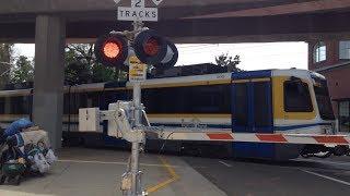 SACRT Light Rail Railfanning at 4 Different Railroad Crossings 1