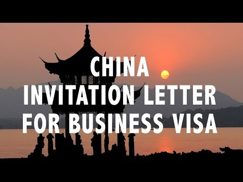 CHINA INVITATION LETTER FOR BUSINESS VISA