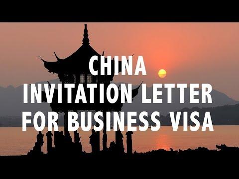 CHINA INVITATION LETTER FOR BUSINESS VISA