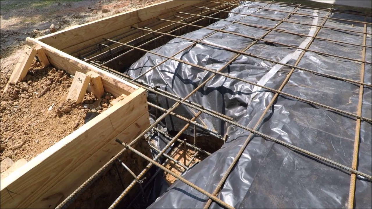 Concrete Slab Rebar : How to rebar cement slab foundation beams part f