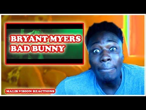 Bryant Myers BAD BUNNY REACTION! | Un Ratito Mas - Bryant Myers Feat Bad Bunny | 2018 LATIN REACT