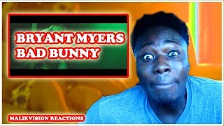 Bryant Myers BAD BUNNY REACTION! | Un Ratito Mas - Bryant Myers Feat Bad Bunny | 2018 LATIN REACT
