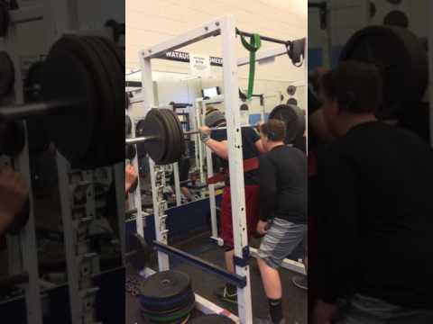 Watauga high school football player squat 475 lbs