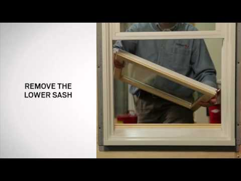 How to replace sash on Andersen® 400 Series Tilt-Wash Double-Hung Windows