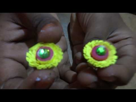 how to make beautiful ear rings with paper qulling.