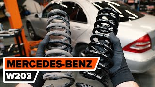 Hoe een spiraalveer achteraan vervangen op een MERCEDES-BENZ W203 C-Klasse [HANDLEIDING AUTODOC]