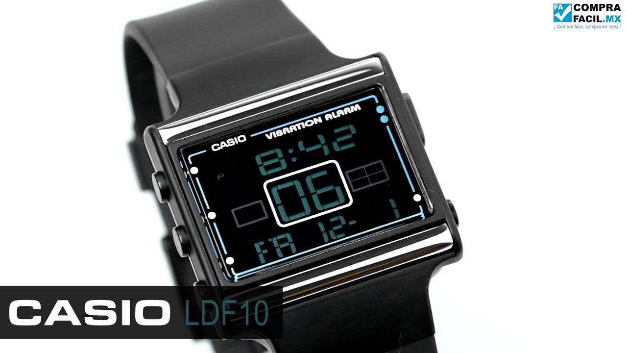 38e540c09012 Reloj Casio Poptone LDF10 Negro - www.CompraFacil.mx - YouTube