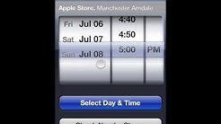 How to book an appointment at the genius bar in Apple stores via iPhone