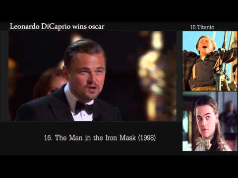 Leonardo DiCaprio wins oscar for best actor in leading role + all Leonardo DiCaprio movies
