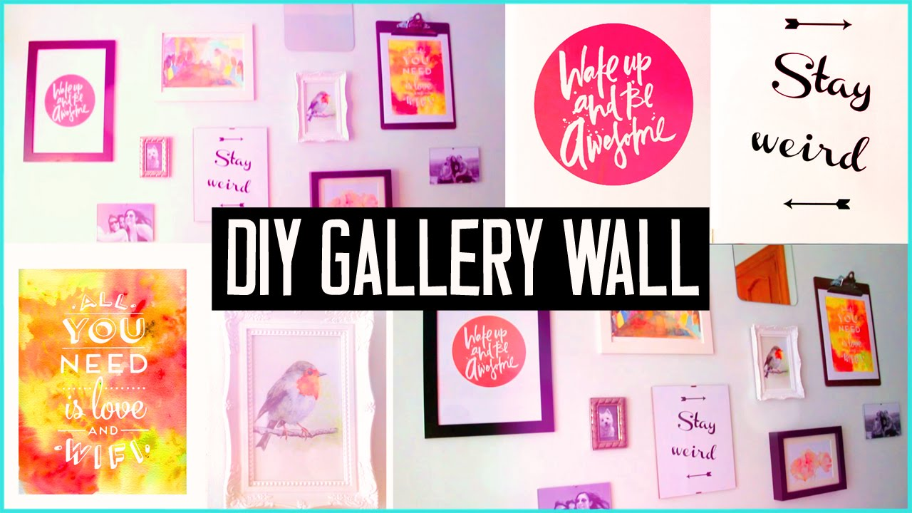 Bedroom wall decoration diy - Diy Room Decor Design Your Wall Arts Make Your Own Gallery Wall Easy Youtube