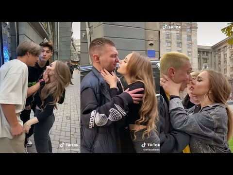 KISSING PRANK IN PUBLIC GONE WRONG🙈