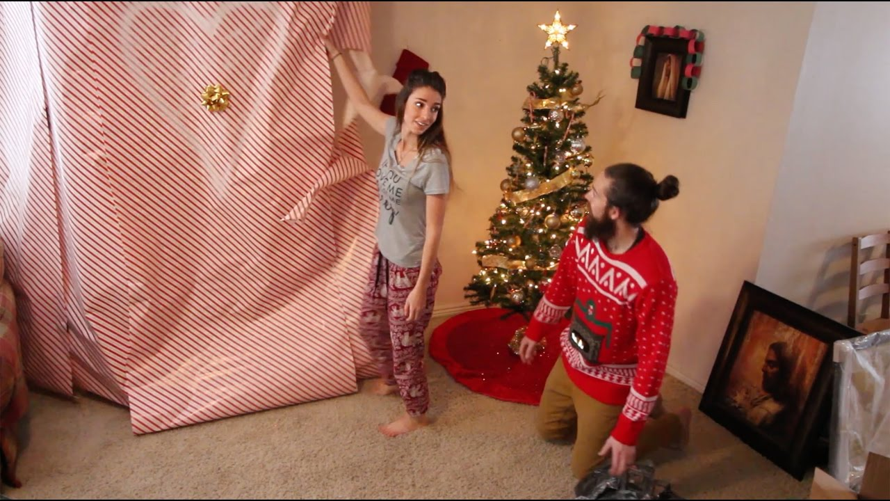 Husband surprises wife with huge christmas gift youtube Christmas presents for wife
