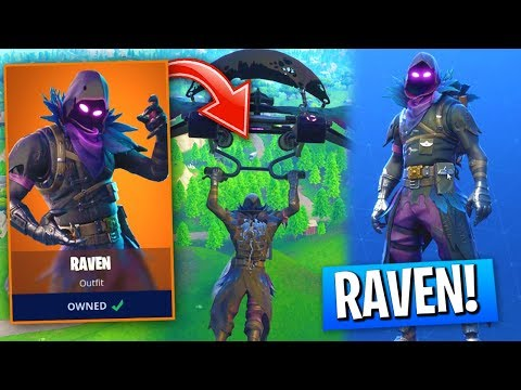 *NEW* Raven Skin GAMEPLAY In Fortnite Battle Royale! (The BEST New LEGENDARY Fortnite SKIN!)