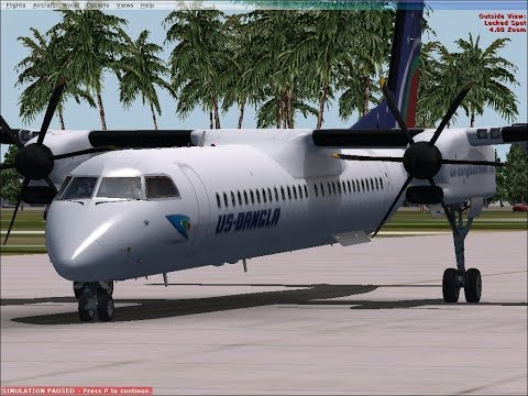 FSX: US Bangla Airlines Dash Q400 Test Flight