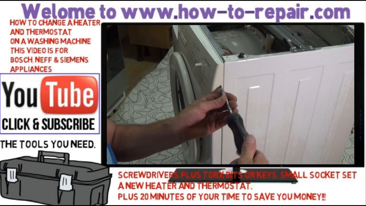 How To Fit A Thermostat Heater Element Bosch Neff Or Siemens Changing On Water Washing Machine