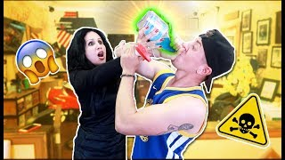 MOMS REACTION TO ME DRINKING POISON!! (HILARIOUS PRANK)