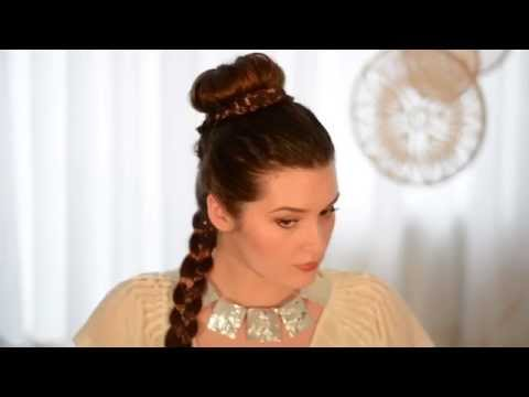 Princess Leia Makeup And Hair Transformation Star Wars YouTube