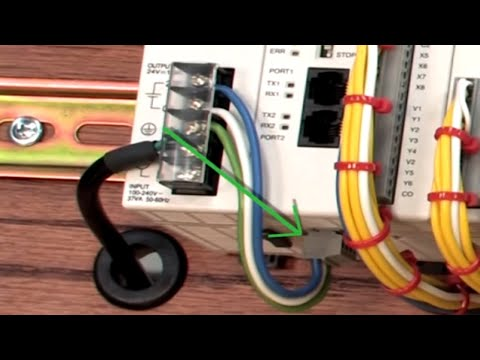 click plc how to apply power part 5 youtube rh youtube com Click plc Wiring Co-11Dd2e-D plc Input Cable Connection