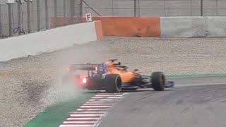 Carlos Sainz' spin on day 3 of F1 Testing 2019
