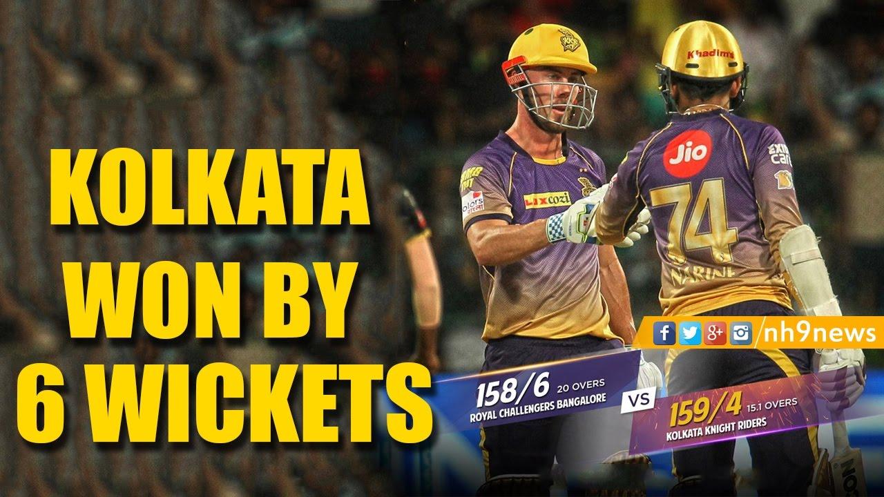 IPL 10 : KKR VS RCB 2017 Highlights |Kolkata Knight Riders ...