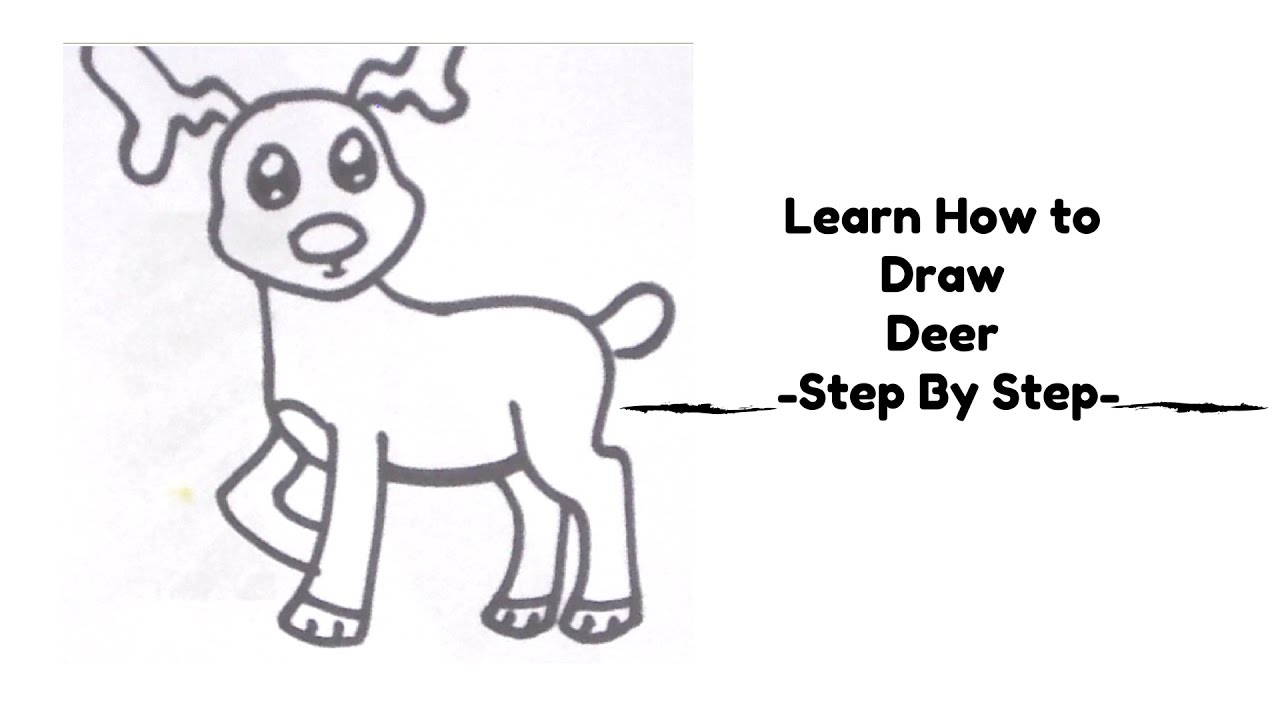 learn how to draw deer step by step simple deer drawing tutorial