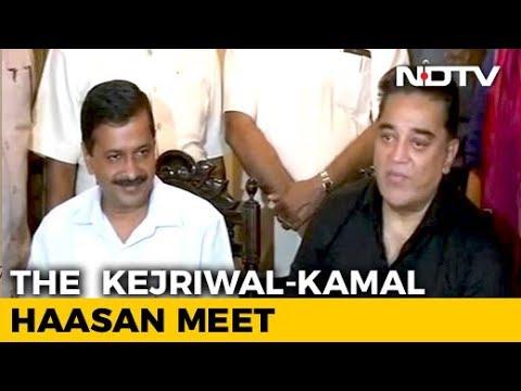 We Both Fight Corruption, Says Kamal Haasan After Arvind Kejriwal Meeting
