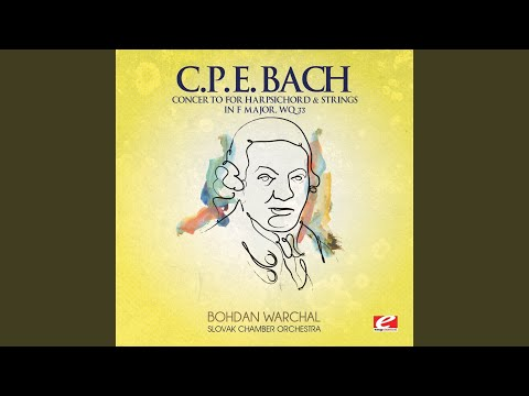 Concerto for Harpsichord & Strings in F Major, Wq. 33: I. Allegretto