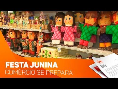 Comércio em clima de festa junina - TV SOROCABA/SBT
