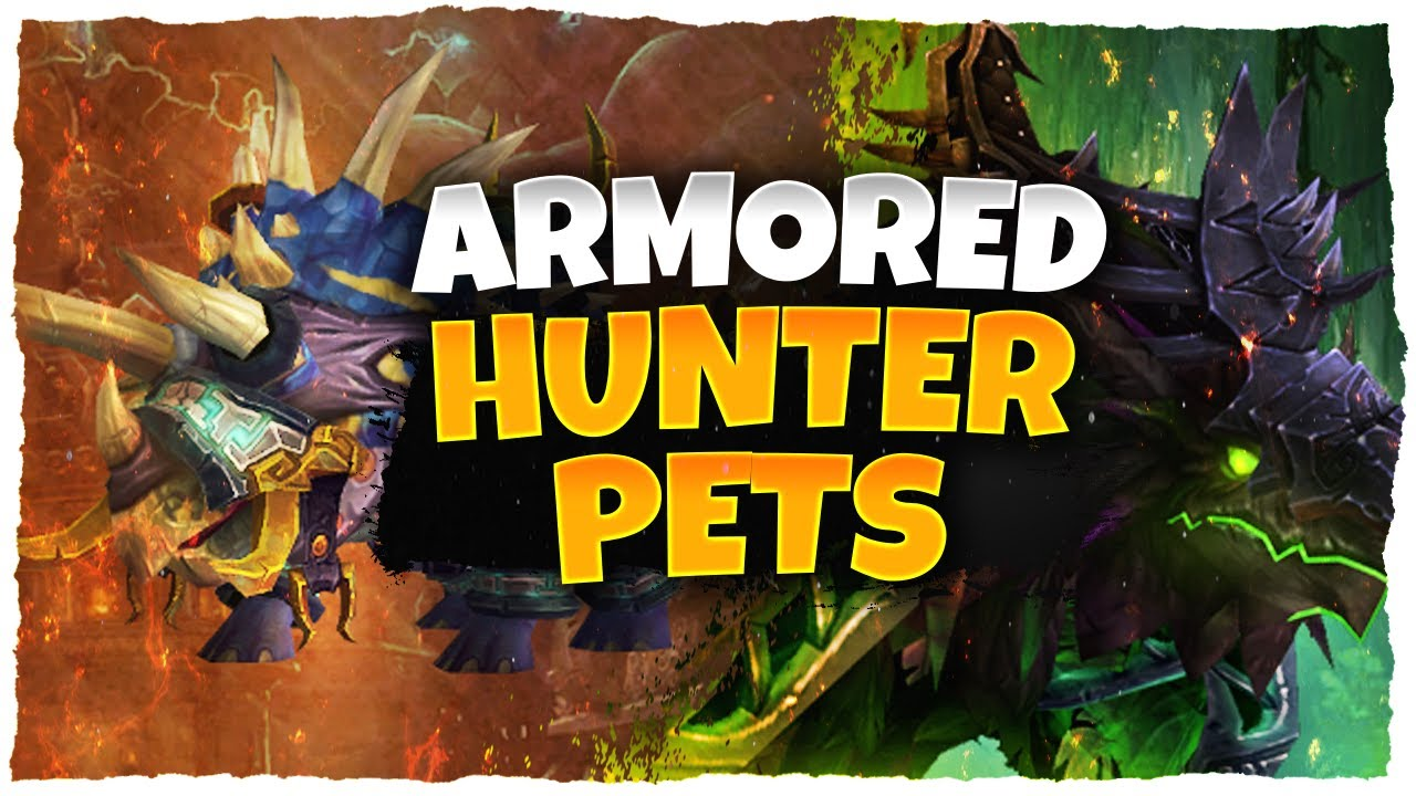 Armored Hunter Pets In Patch 8 3 World Of Warcraft Youtube