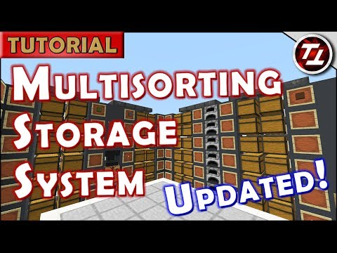 Minecraft Tutorial: Automated Silent Storage System with Multi-Item Sorting [v2.0]