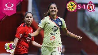 Resumen América 5 - 1 Tijuana | Liga MX Femenil - J14 | Televisa Deportes