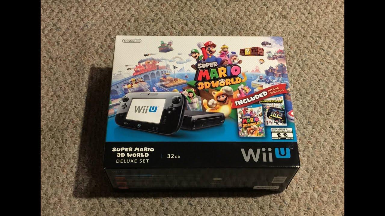 Wii U Super Mario 3D World Deluxe Set Unboxing - YouTube