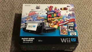 Wii U Super Mario 3D World Deluxe Set Unboxing