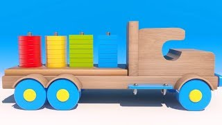 Learn Numbers and Colors for Kids and Children. Wooden Toys Collection