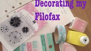 Decorating my Filofax Month on 2 Pages: October 2014