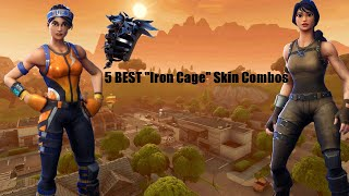 "5 BEST ""Iron Cage"" Skin + Backbling Combinations In Fortnite Battle Royale!"